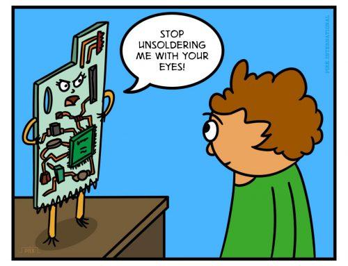 Unsoldering Cartoon