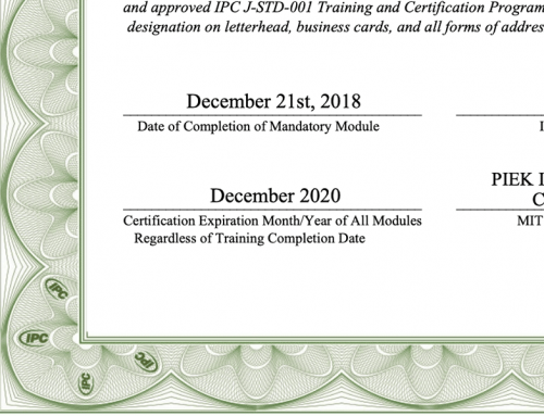 No extensions for IPC certifications