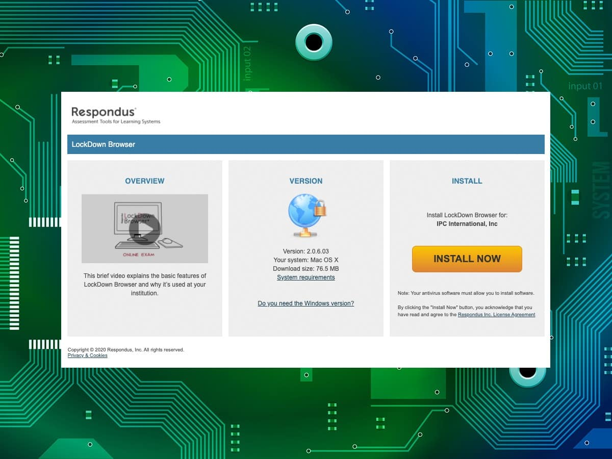 IPC Online proctored exams - lockdown browser