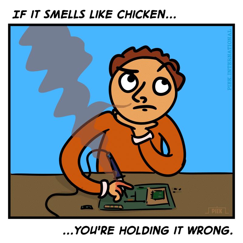 PIEK Soldering Cartoon