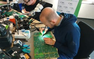 Training group hand soldering
